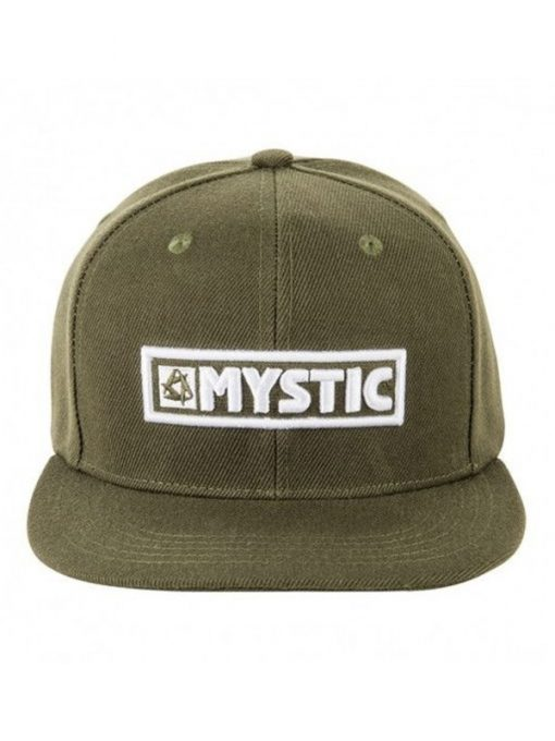 Mystic cap green with white letters